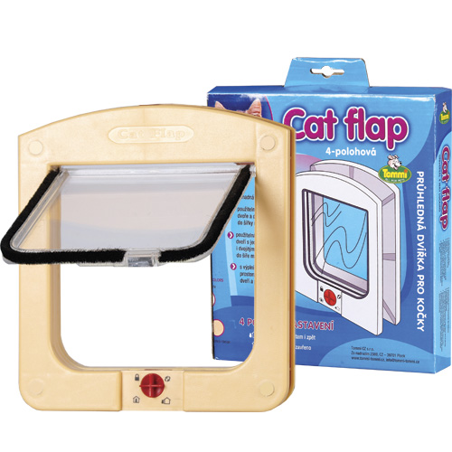 Vrata za mačke boja pijeska 22,5x20,5x3,5cm