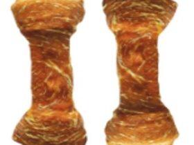 Žvakalica Kost koža omotana Paćjim mesom 6,5cm-15kom/pack